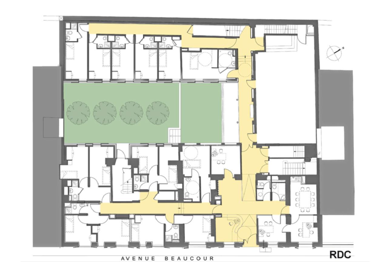 Projet foyer Beaucour 5 par Atelier JS Tabet