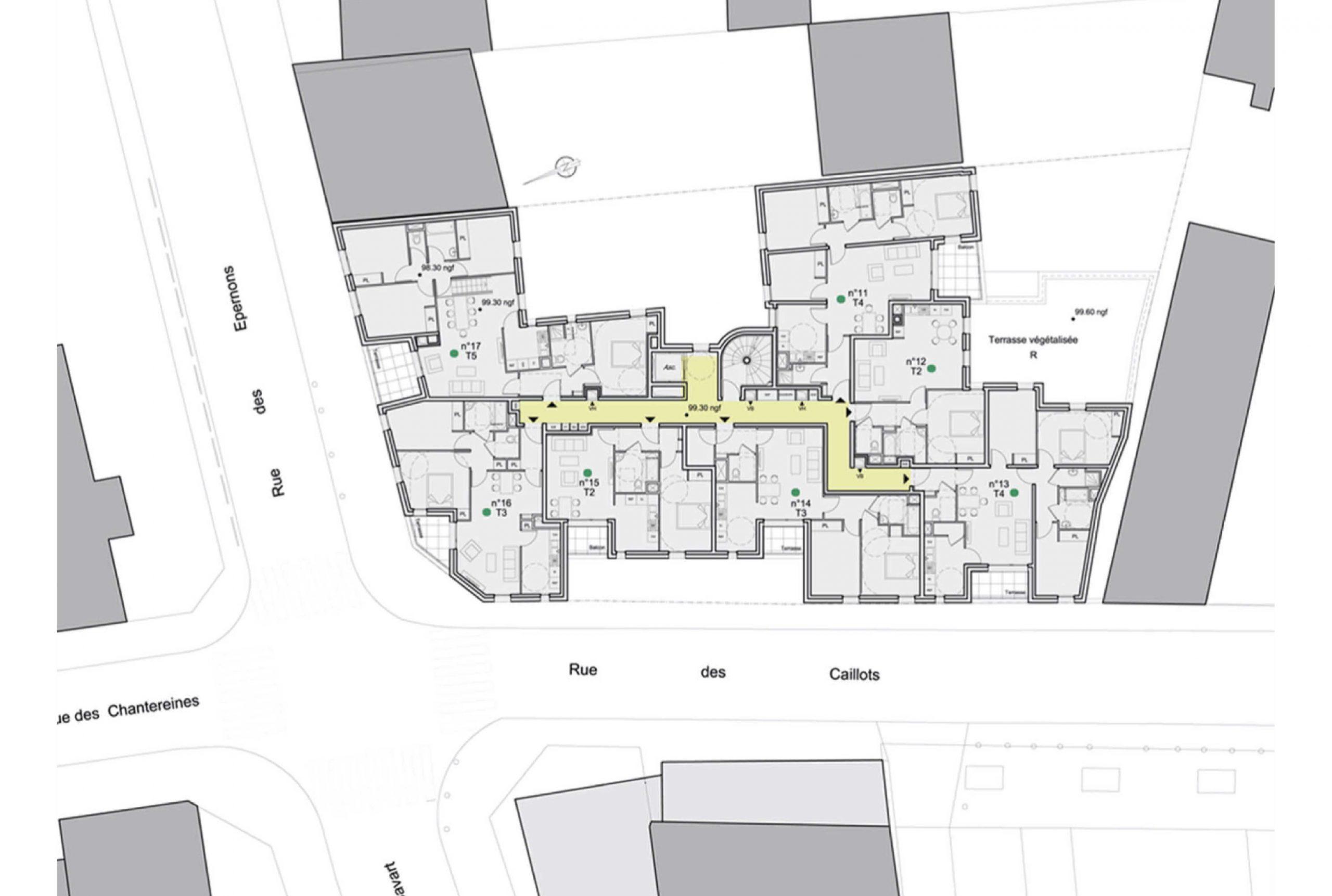 Projet logement Caillots 8 par Atelier JS Tabet