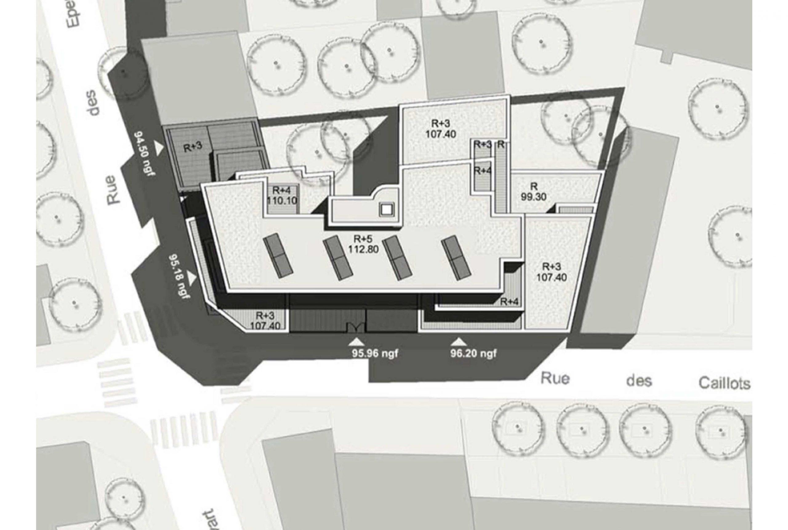 Projet logement Caillots 9 par Atelier JS Tabet