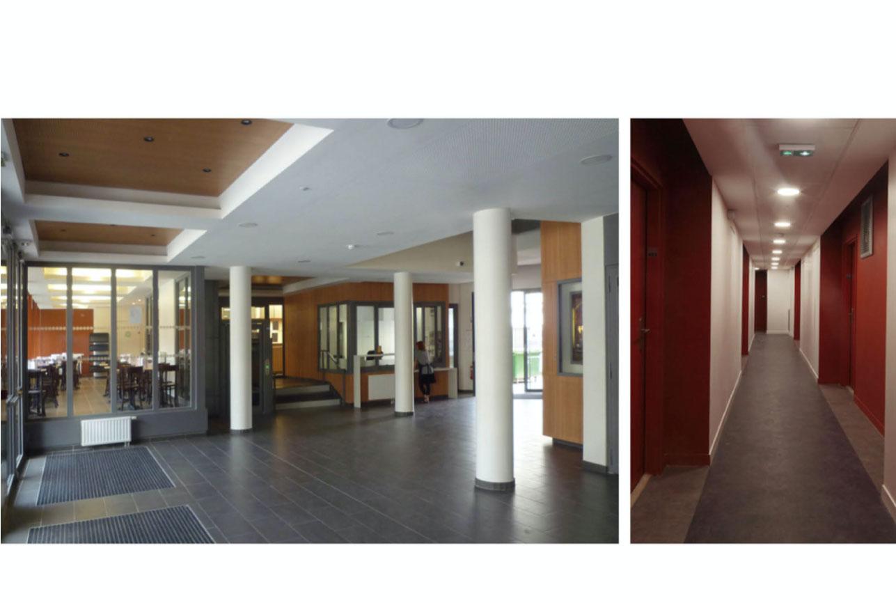 Projet foyer Championnet 2 par Atelier JS Tabet