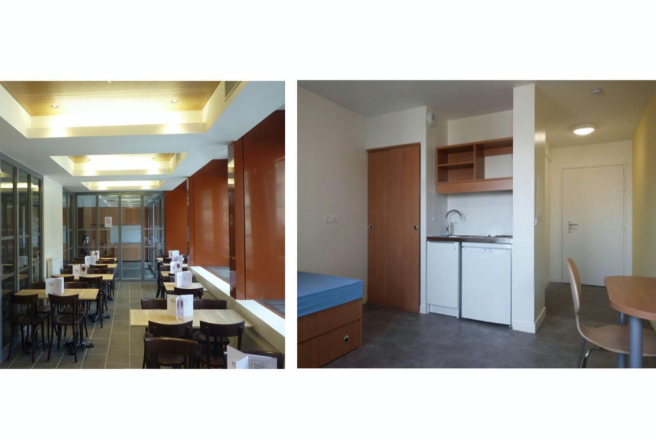 Projet foyer Championnet 3 par Atelier JS Tabet