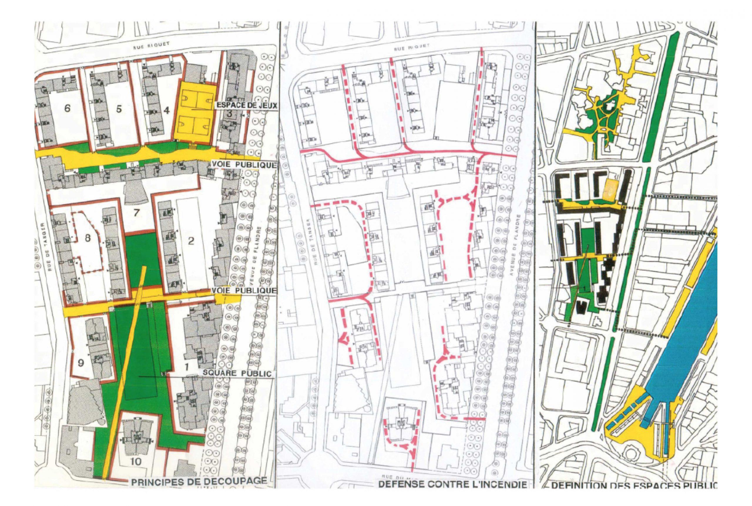 Projet urbanisme Flandre Riquet 3 par Atelier JS Tabet