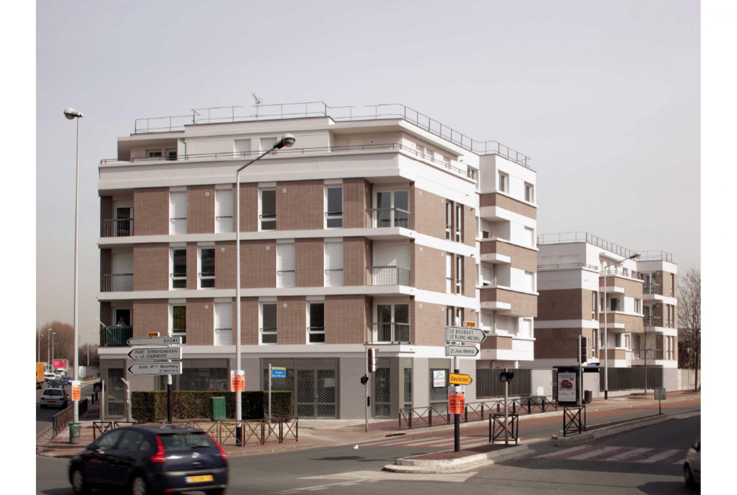 Projet logement La Courneuve 1 par Atelier JS Tabet