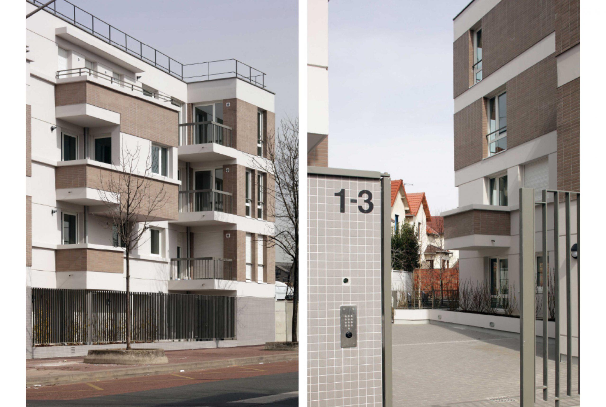 Projet logement La Courneuve 2 par Atelier JS Tabet