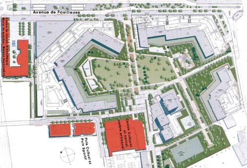 Projet urbanisme Rénovation urbaine Rueil Malmaison par Atelier JS Tabet