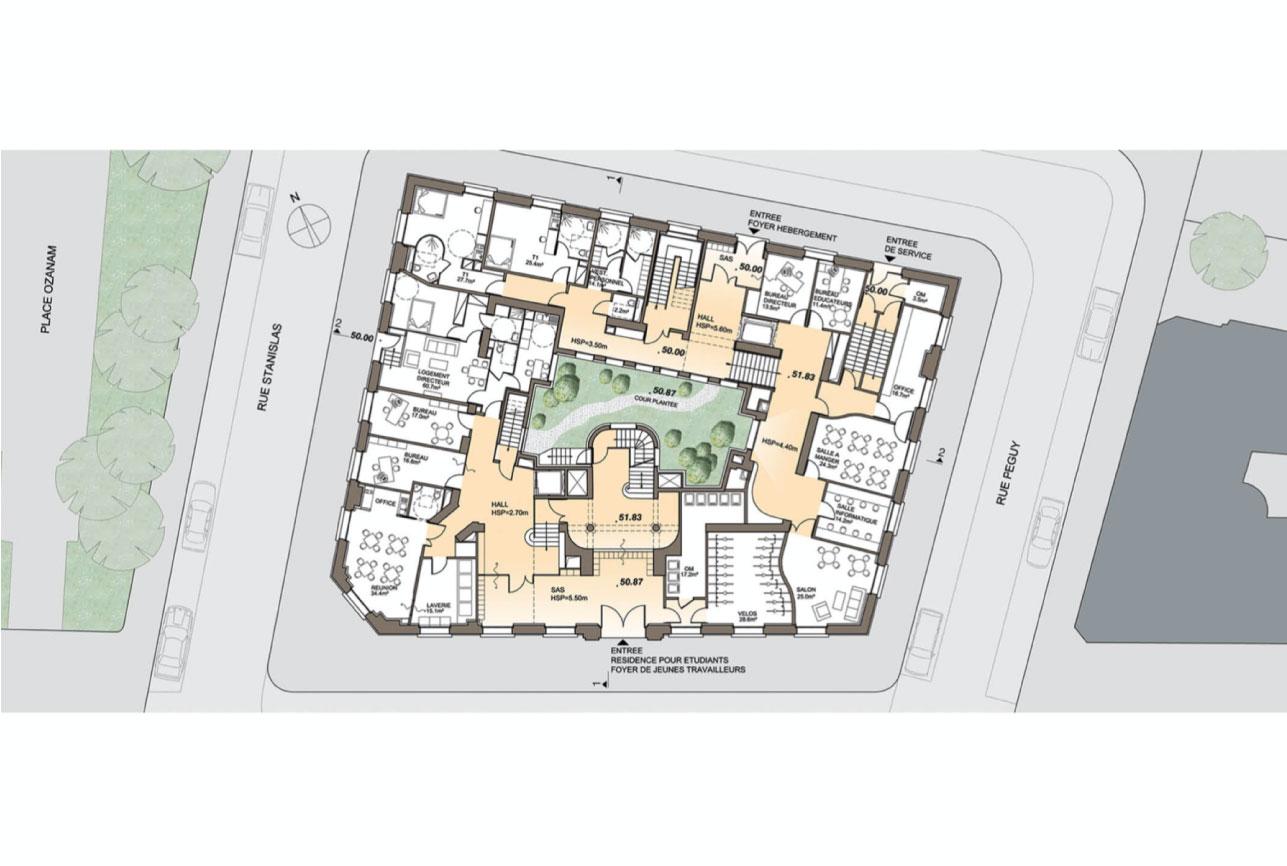 Projet rehabilitation Montparnasse 7 par Atelier JS Tabet