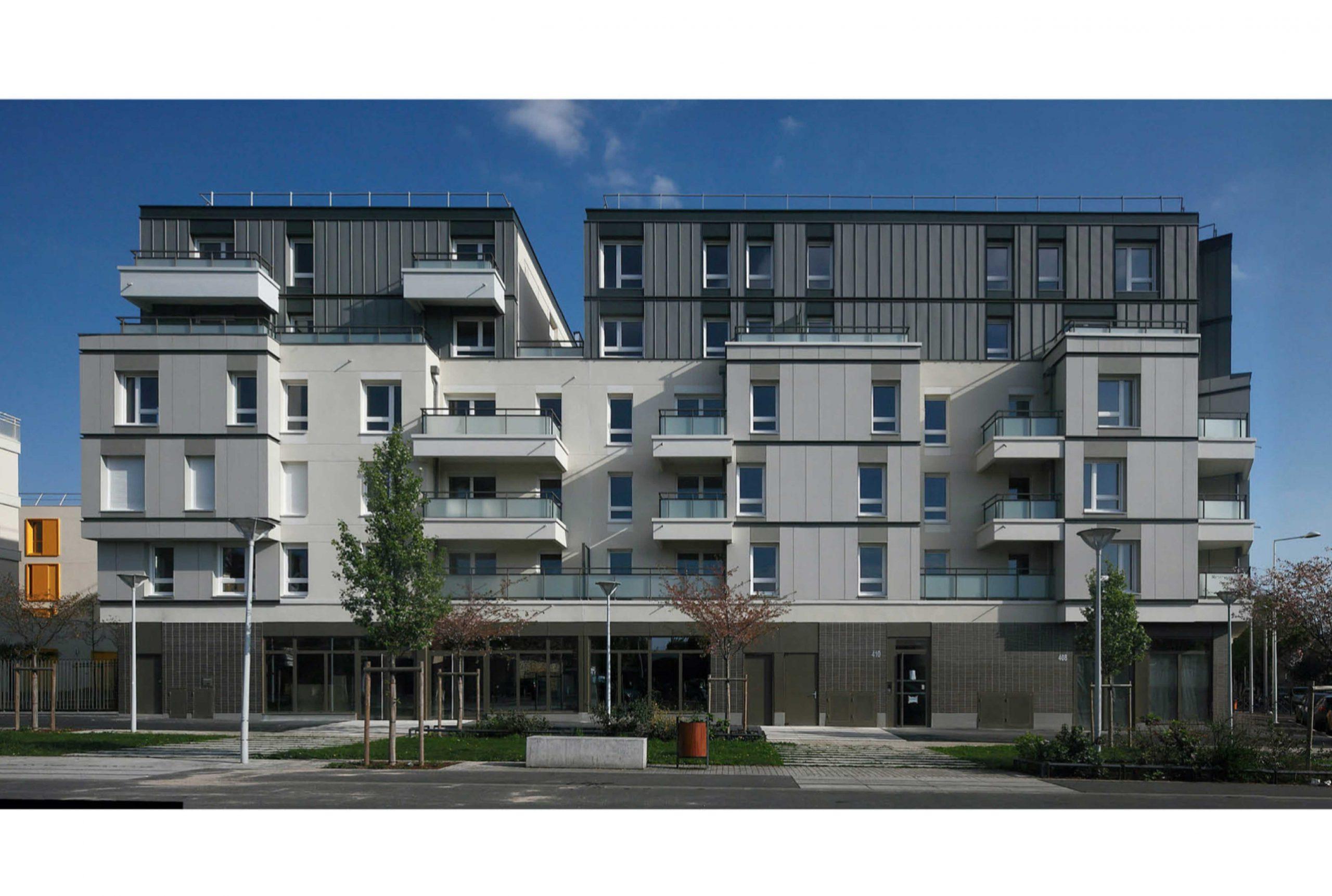 Projet logement Petit Nanterre 1 par Atelier JS Tabet