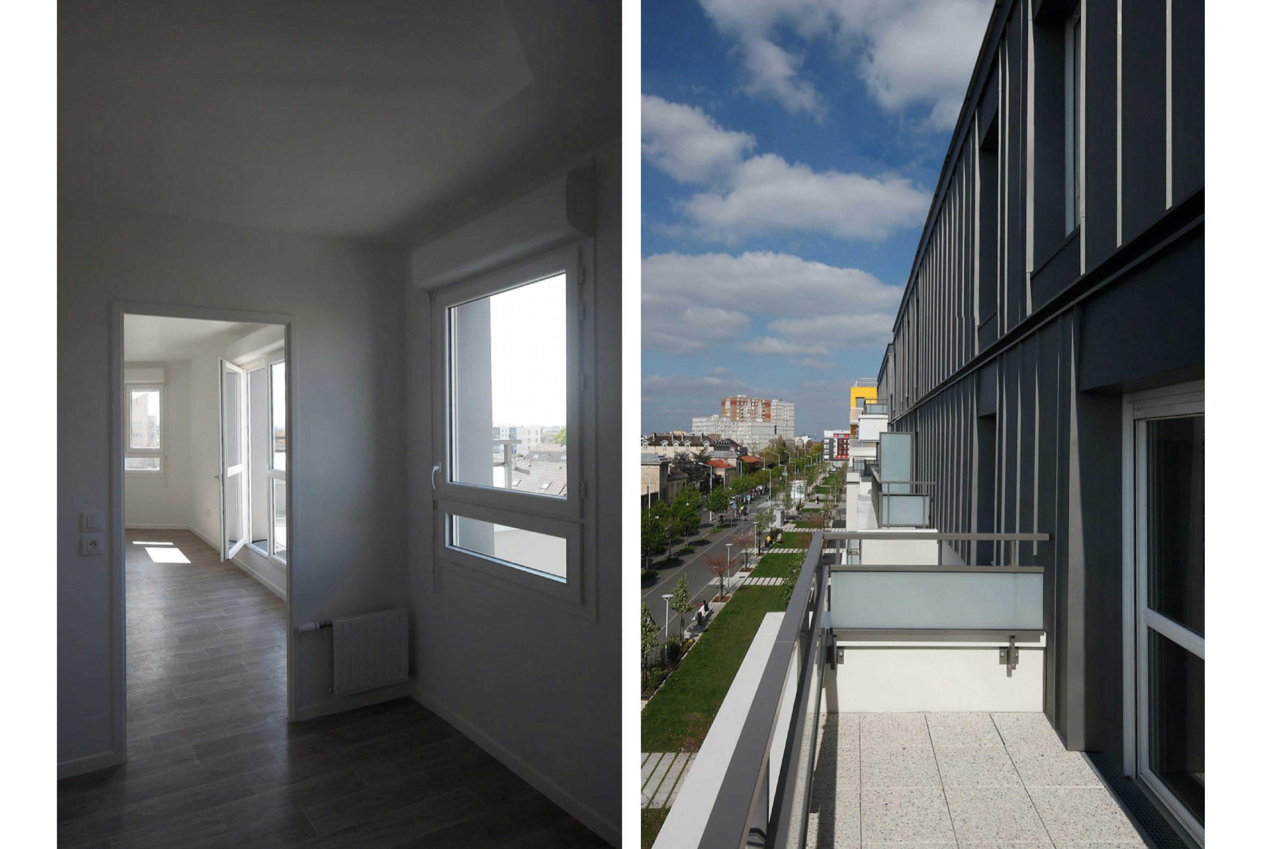 Projet logement Petit Nanterre 4 par Atelier JS Tabet