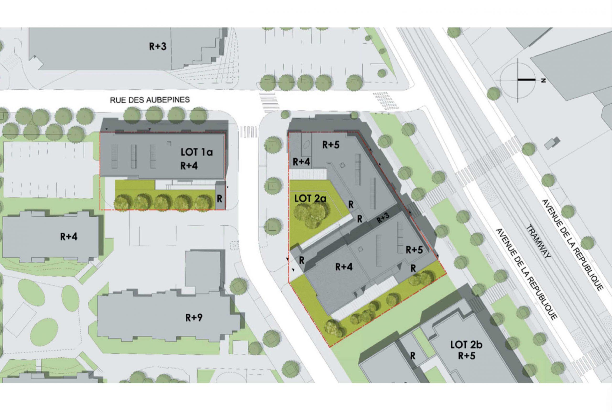 Projet logement Petit Nanterre 7 par Atelier JS Tabet