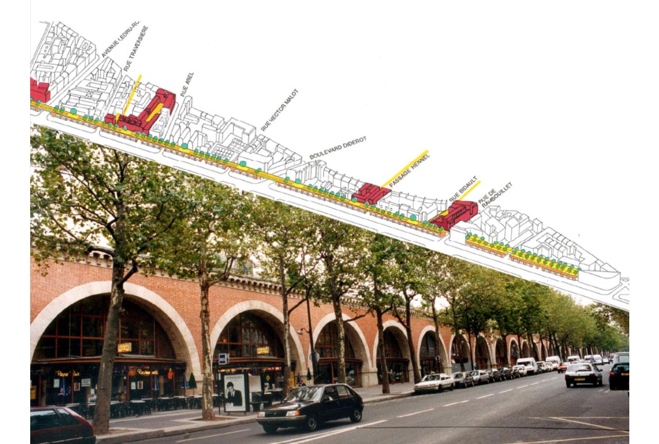 Projet urbanisme Promenade Plantée 1 par Atelier JS Tabet