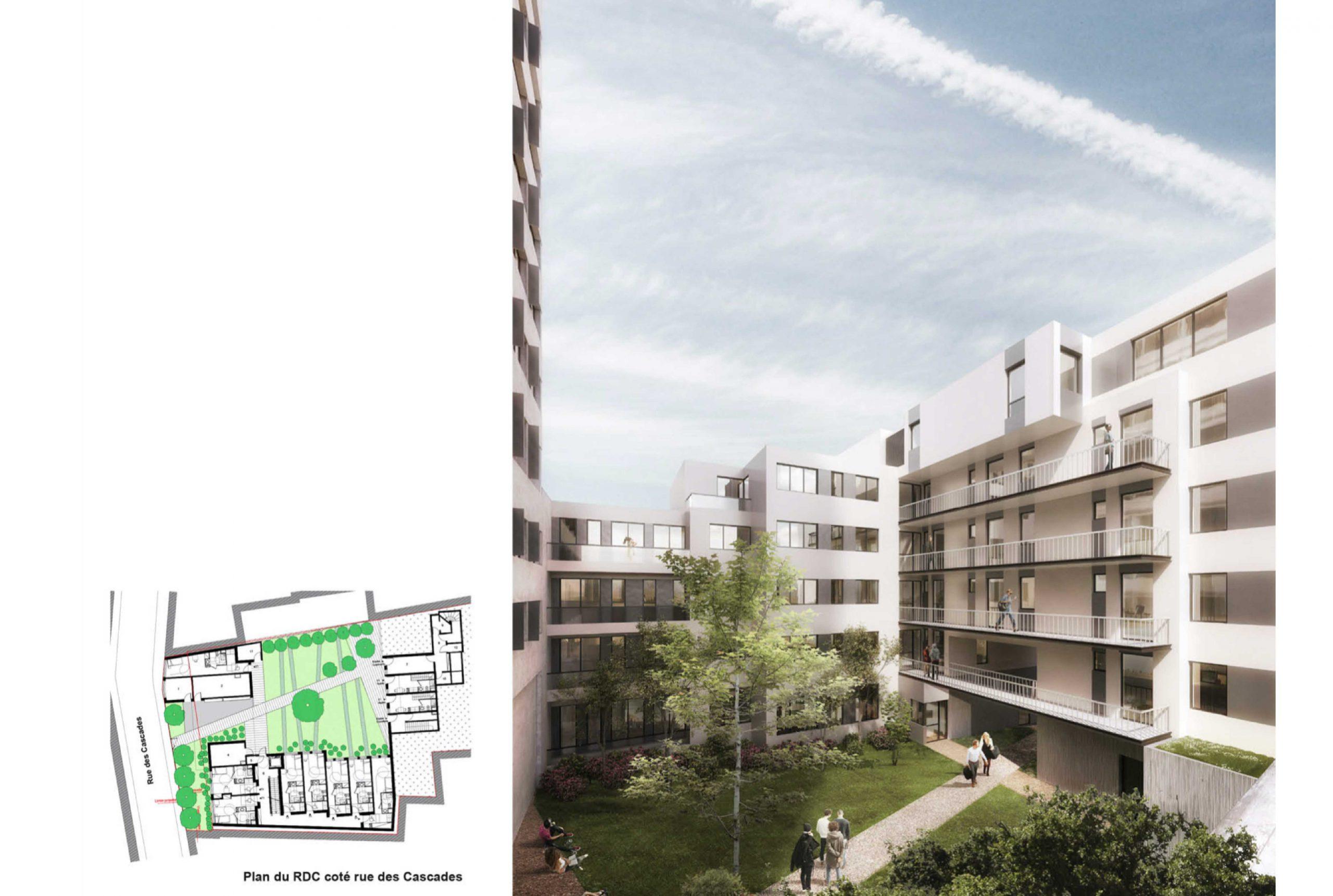 Projet logement Pyrénées Cascades 2 par Atelier JS Tabet