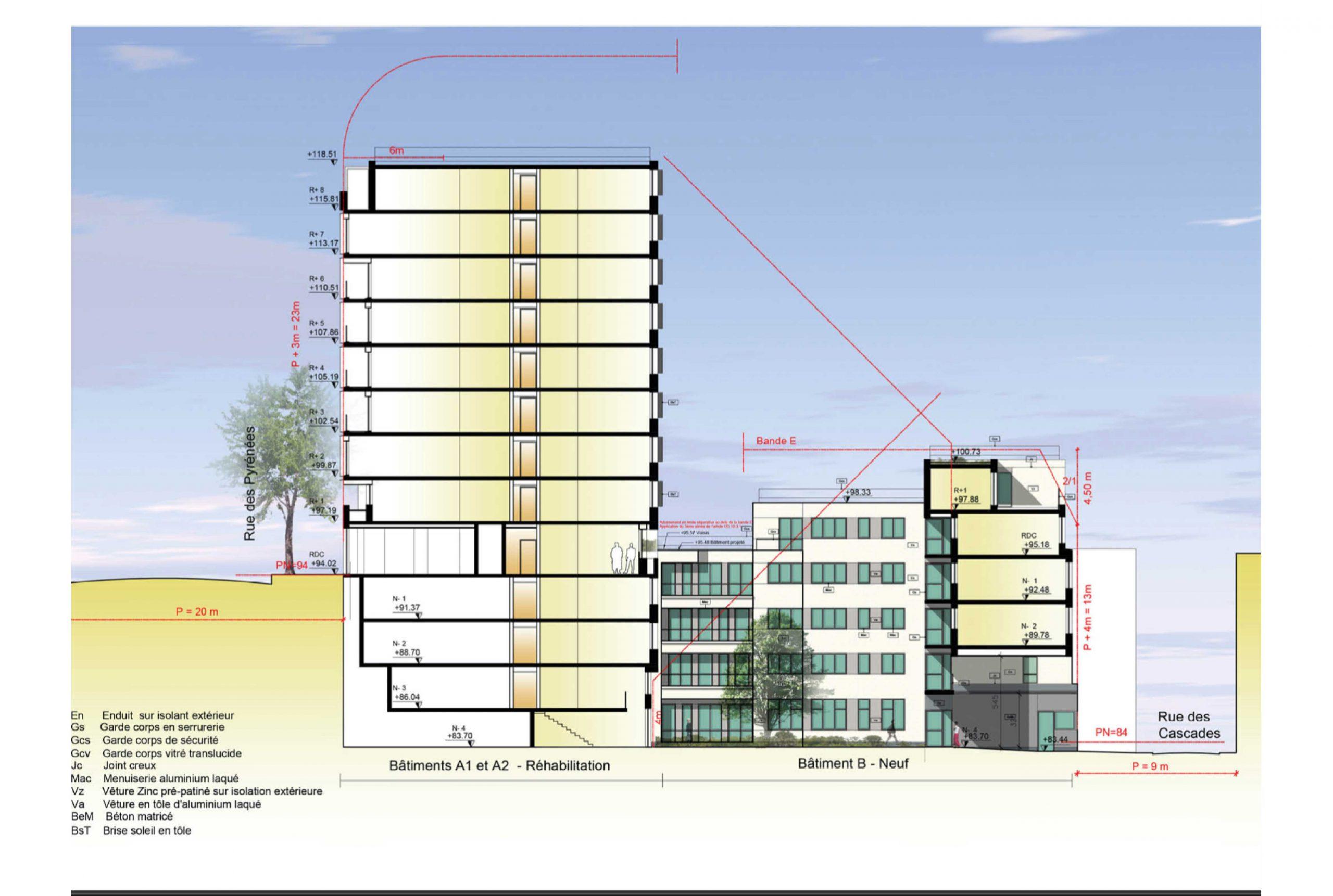 Projet logement Pyrénées Cascades 6 par Atelier JS Tabet