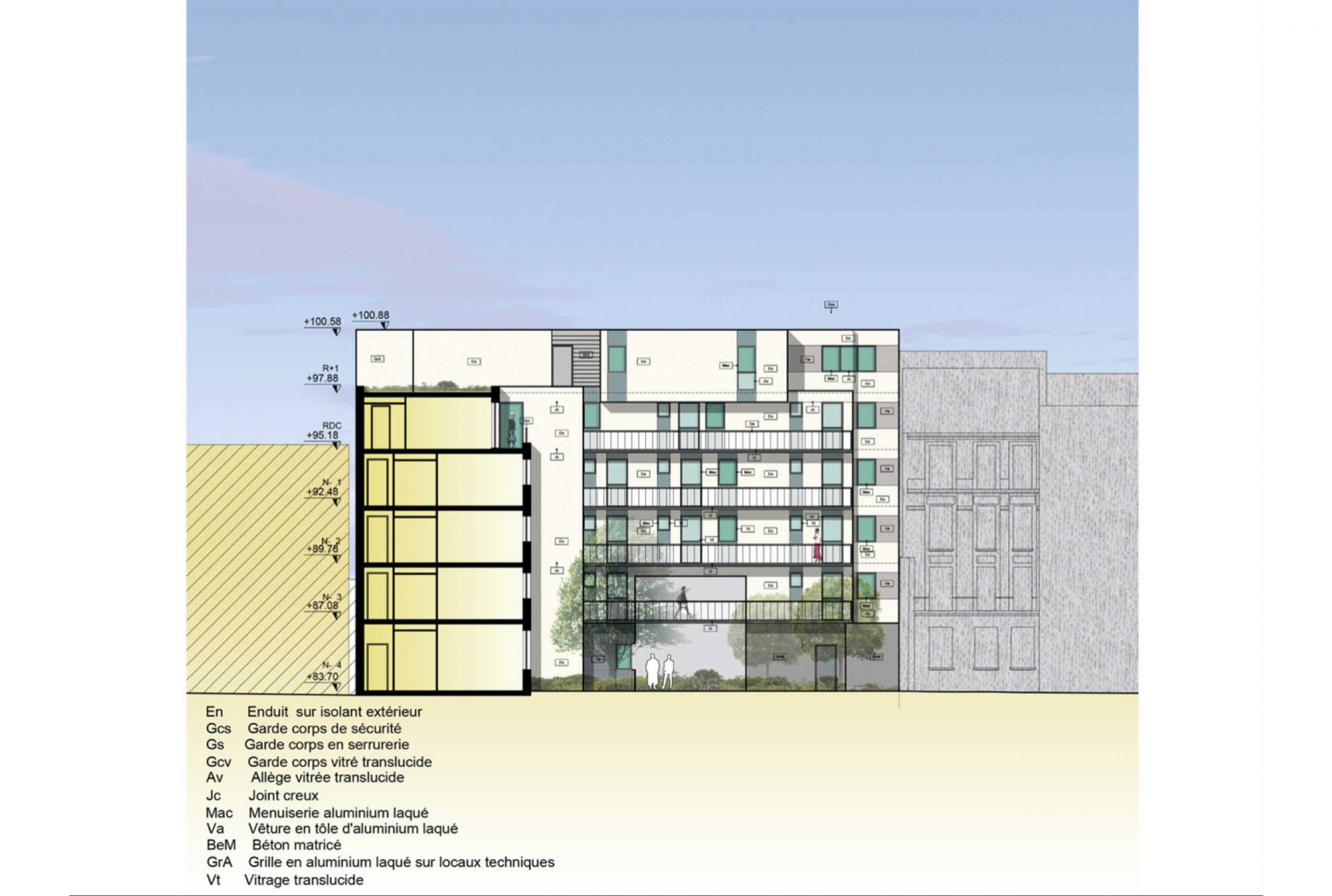 Projet logement Pyrénées Cascades 7 par Atelier JS Tabet