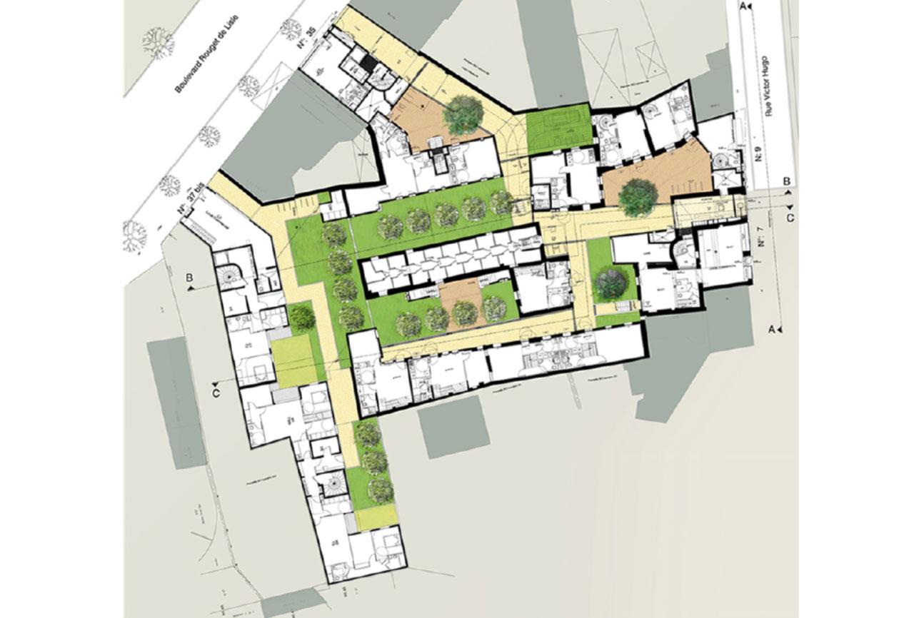 Projet rehabilitation Rouget de l_Isle 7 par Atelier JS Tabet