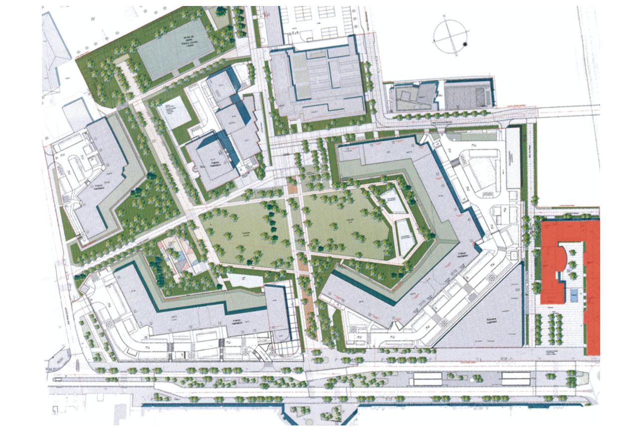 Projet urbanisme Rueil pôle administratif 1 par Atelier JS Tabet