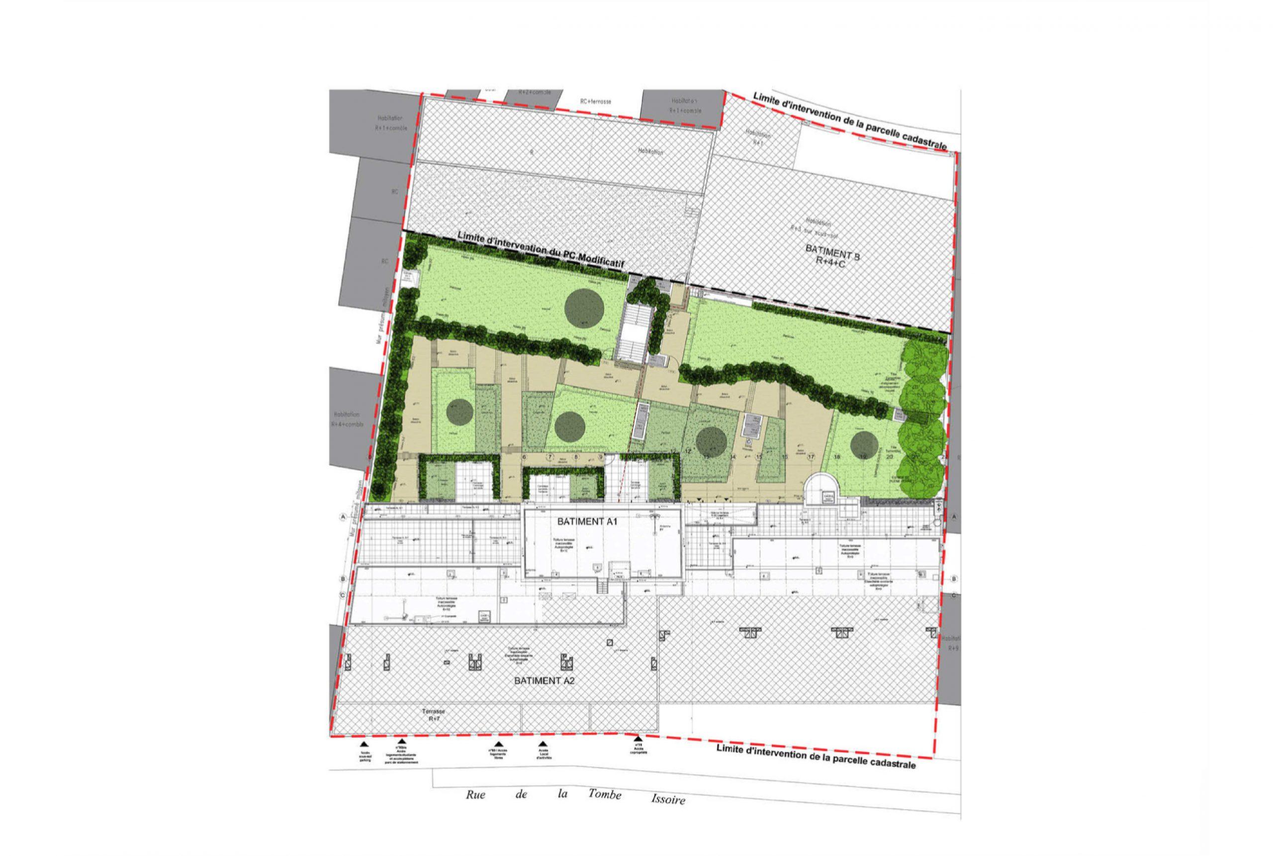Projet logement Tombe Issoire 5 par Atelier JS Tabet