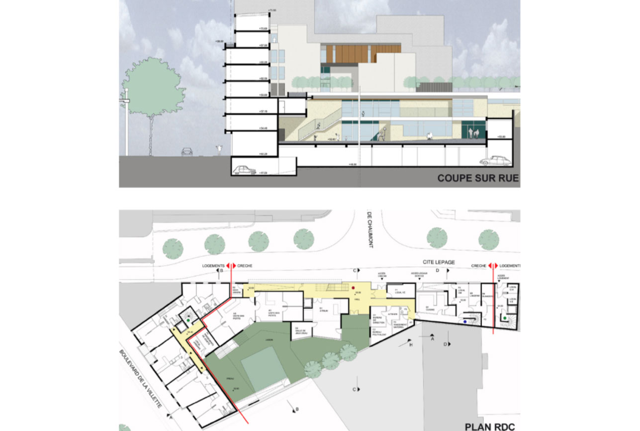Projet equipement Villette crèche 4 par Atelier JS Tabet