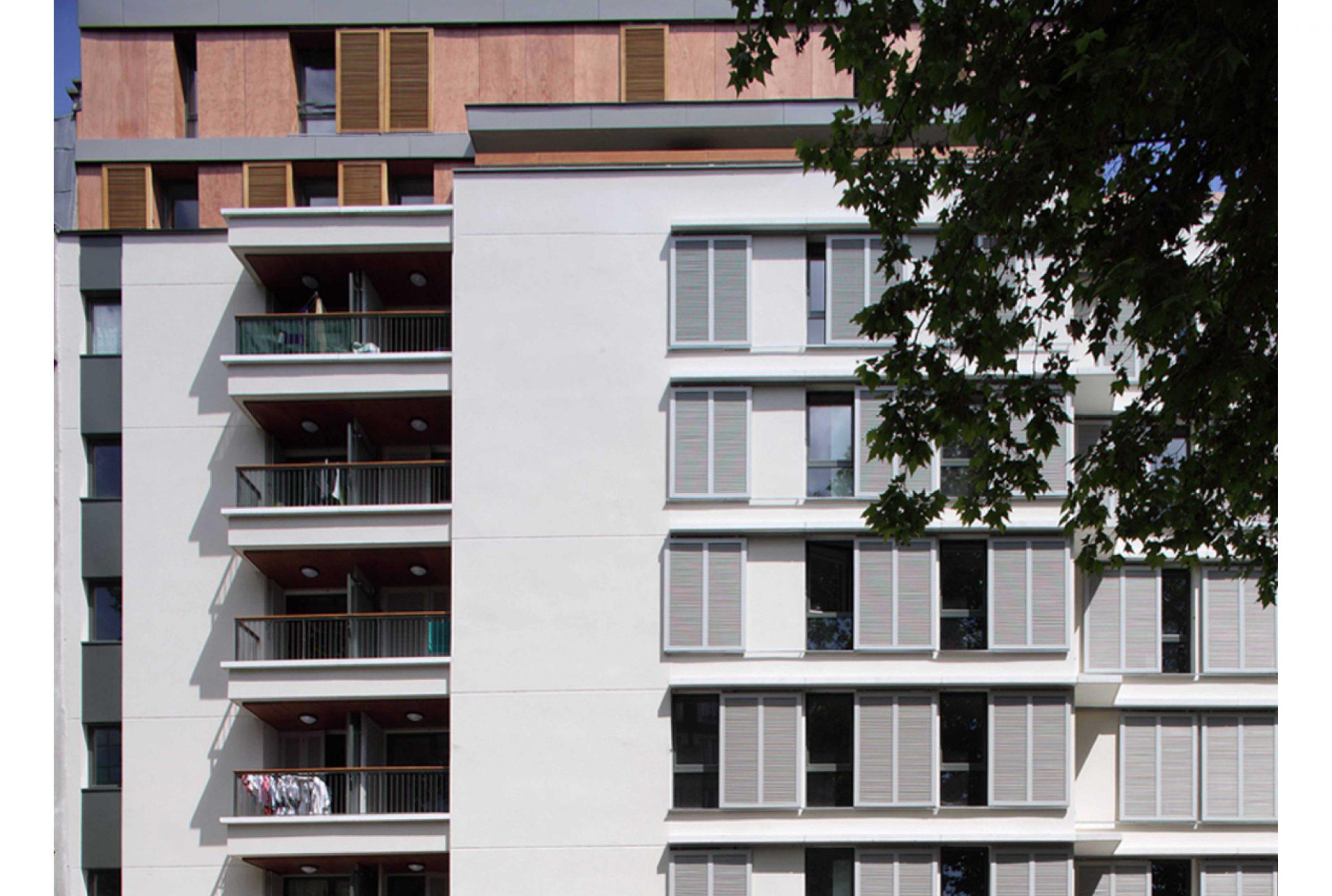 Projet logement Villette logements 2 par Atelier JS Tabet