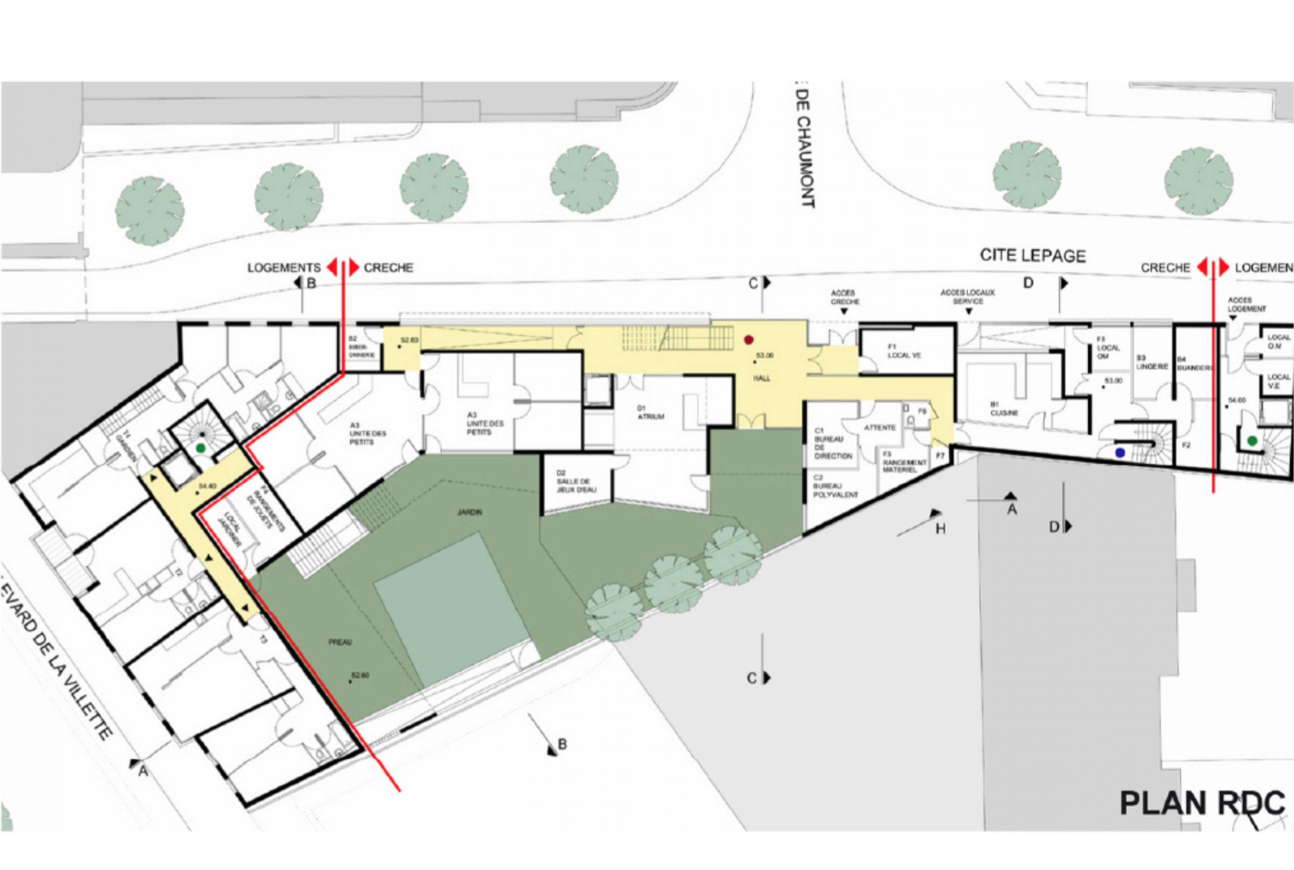 Projet logement Villette logements 5 par Atelier JS Tabet