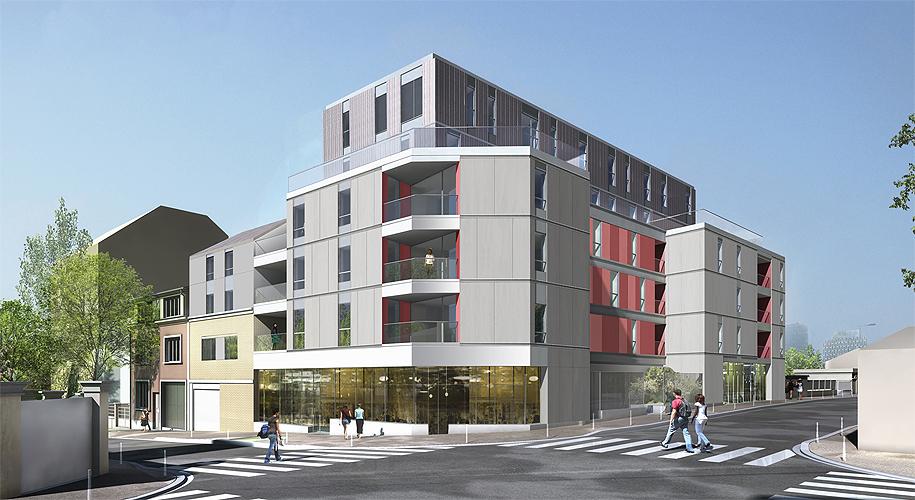 Projet logement caillots 4 par Atelier JS Tabet