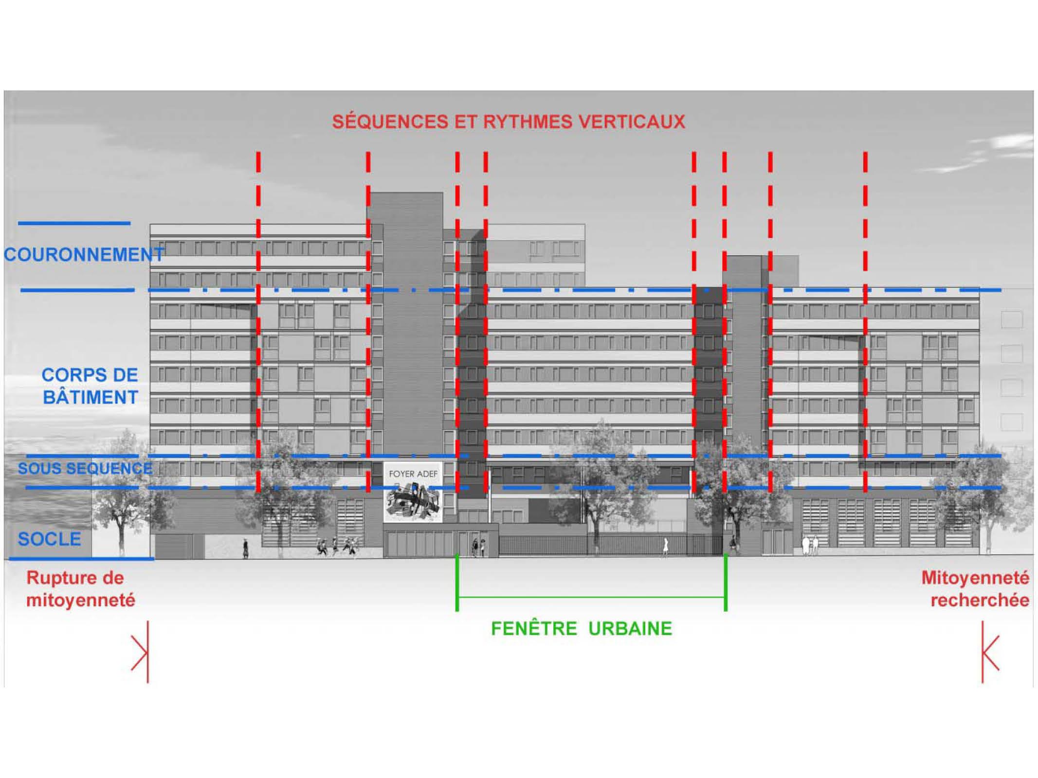Projet foyer Vitry 4 par Atelier JS Tabet